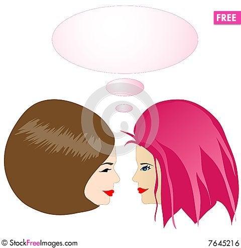 Free Gossiping Girls Royalty Free Stock Image - 7645216