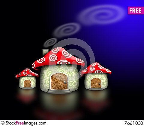 Free Mushroom House In The Dark Stock Photo - 7661030