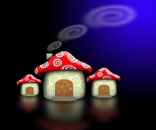 Free Mushroom House In The Dark Stock Photo - 7661030