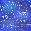 Free Music Signs And Note On Blue Blurred Background Royalty Free Stock Photography - 76659707
