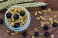 Free Homemade Yogurt With Cereal And Berries. Royalty Free Stock Photos - 76741658