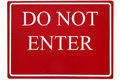 Free Do Not Enter Stock Photo - 770060