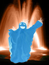 Free Blue Ghost. Royalty Free Stock Photos - 770368