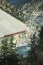 Free Freight Train Going Through Mountain Area Stock Photos - 779333