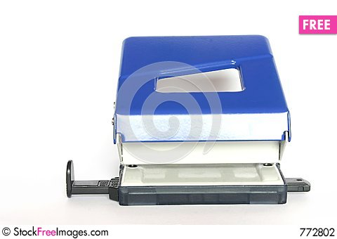 Free Hole Puncher Stock Photography - 772802
