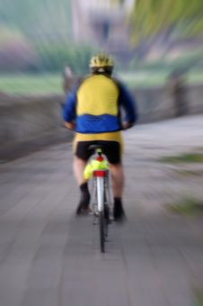 Free Cyclist Royalty Free Stock Image - 770016