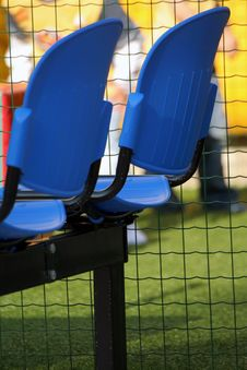 Free Blue Seats Stock Image - 770161