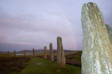 Free Ring Of Brodgar, Orkneys, Scotland Royalty Free Stock Photo - 770575