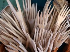 Free Wooden Forks Royalty Free Stock Images - 770799