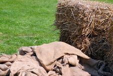 Free Hay And Sack Royalty Free Stock Photography - 770887
