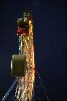 Free Ferris Wheel At Night Royalty Free Stock Photos - 771308
