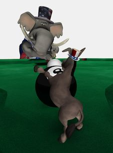 Behind The 8 Ball - Democrat 2 Stock Photo