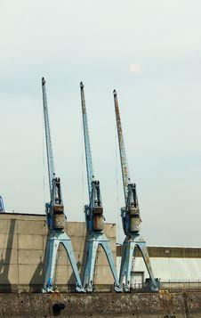 Free Dockside Cranes Stock Photo - 772050
