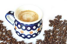 Free Drink & Food - Coffee Cup With Beans Stock Photos - 772903