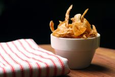 Free Home-made French Fries And Napkin Royalty Free Stock Image - 772956
