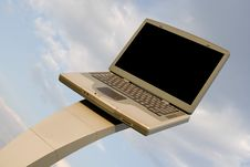Laptop Billboard Royalty Free Stock Photos
