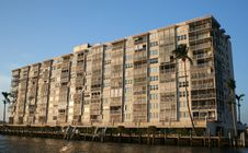 Free Older Condo On River Stock Photography - 773842