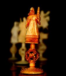 Ivory Chess Pieces Royalty Free Stock Photos