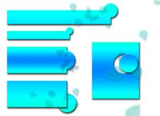 Free Aqua Logo Set Leaves Stock Image - 774671