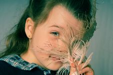 Free Feather And Girl Stock Images - 774714