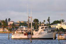 Free Docked Fishing Boat Stock Image - 774771
