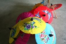 Free Decorative Umbrellas Royalty Free Stock Image - 775396