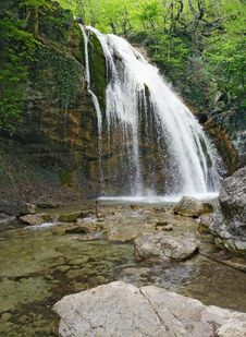 Free Jour-Jour Waterfall, Krimea,Ukraine Royalty Free Stock Photos - 776118