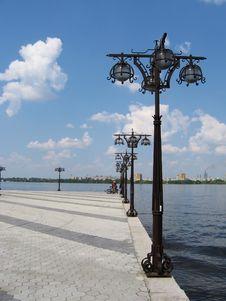 Bay River Dniepr Stock Image