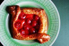 Cherry Pastry Stock Image