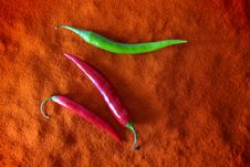 Hot Red And Green Chili Royalty Free Stock Photography