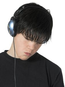 Teen Music Stock Photography