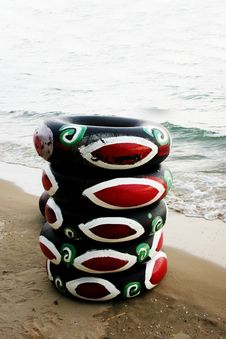 Free Beach Tubes Stock Image - 779021