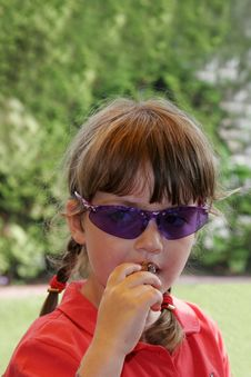 Free Child With Blue Sunglasses Stock Images - 779344
