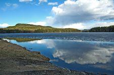 Beautiful Lake In Rural Area Stock Image