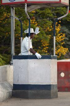 Indian Policeman Royalty Free Stock Image