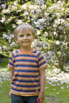 Free Boy In Garden Stock Image - 779601