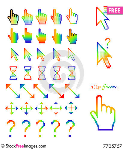 Free mouse pointers arrow hand finger royalty free stock photography
