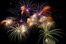 Free Fireworks On Black Royalty Free Stock Image - 7700316