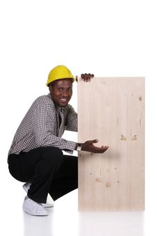 Free Young African American Carpenter Royalty Free Stock Image - 7700716