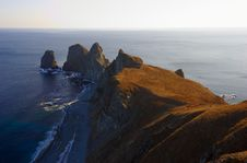 Sunset On Cape Of Four Rocks-3 Stock Image