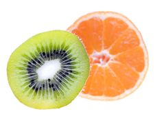 Kiwi And Tangerine Royalty Free Stock Photos