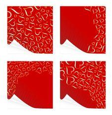 Free Beautiful Peeling Valentine Cards Royalty Free Stock Photos - 7702148