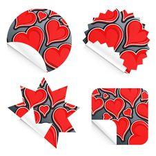 Free Valentine Stickers Stock Photography - 7702272