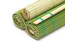 Free Curtailed Bamboo Mats Royalty Free Stock Photo - 7702685