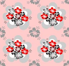 Free Seamless Pattern With Flowers Design. Royalty Free Stock Photo - 7702945