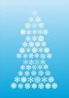 Free Snowflake Tree Royalty Free Stock Photos - 7703108