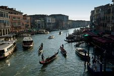 Free Gondolas On Grand Canal Royalty Free Stock Photo - 7703815