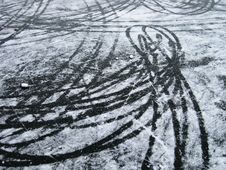 Free Marks On The Ice Stock Photo - 7704150