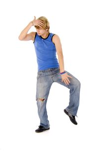 Free Young Dancing Man Stock Photo - 7704800
