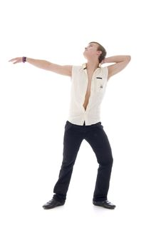 Free Dancing Young Man Royalty Free Stock Image - 7704816